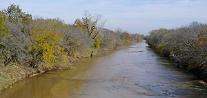 Chikaskia River - The Chikaskia River near the community of Corbin in Sumner County, Kansas