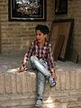 Children in Ribat-i-Abbasi of Nishapur (Hossein - Ali - Fatemeh - Hengameh and another girl - probably Afghani) 02.jpg