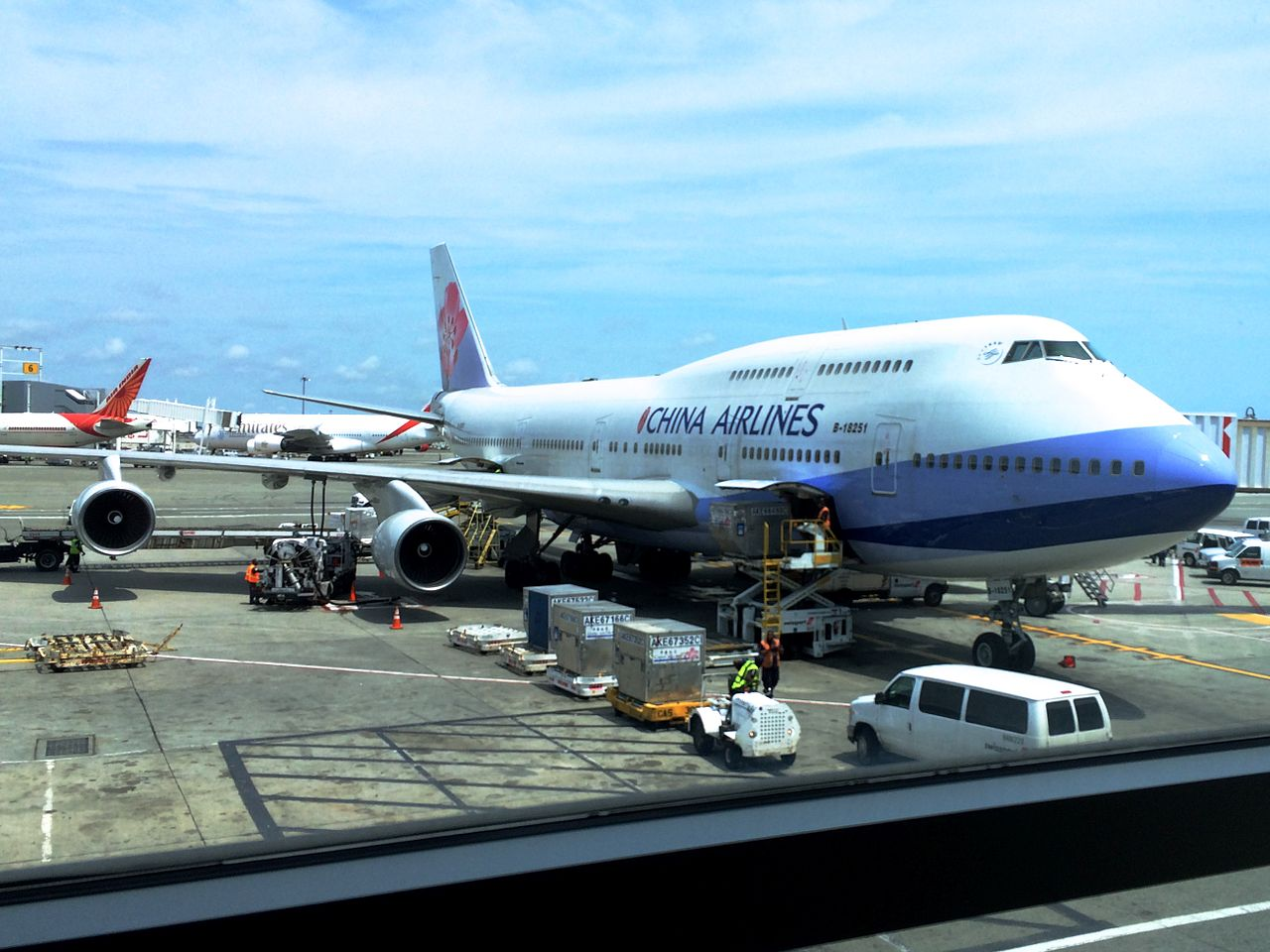 Aviation Charts For Google Earth: China Airlines Boeing 747-400 B-18251 @ JFK KJFK.JPG ,Chart