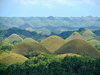 Chocolate Hills - The Chocolate Hills in Carmen, Bohol.