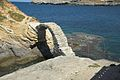 Chora of Andros, Venetian castle, bridge, 090606.jpg