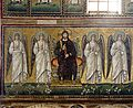 Christ and angels mosaic - Sant'Apollinare Nuovo - Ravenna 2016.jpg