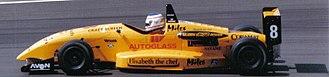 Christian Horner - Horner driving for Alan Docking Racing at Silverstone during the 1995 British Formula Three Championship season