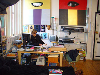 Christopher Makos - Makos at work in his studio
