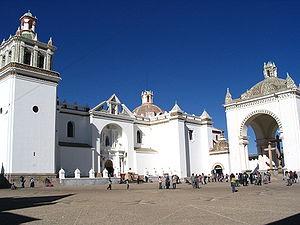 Copacabana, Bolivia - Image: Church of copacabana