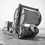 Churchill AVRE carpet-layer with bobbin, 79th Armoured Division, March-April 1944. H37411.jpg