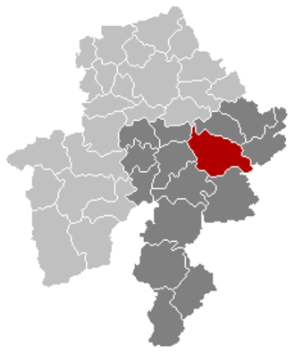 Ciney - Image: Ciney Namur Belgium Map