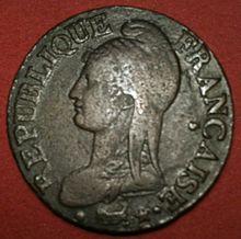 La République d' Augustin Dupré qui orne le revers des pièces en ...