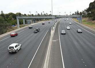 CityLink - e-TAG toll gantries on the Tullamarine Freeway section of Melbourne's CityLink