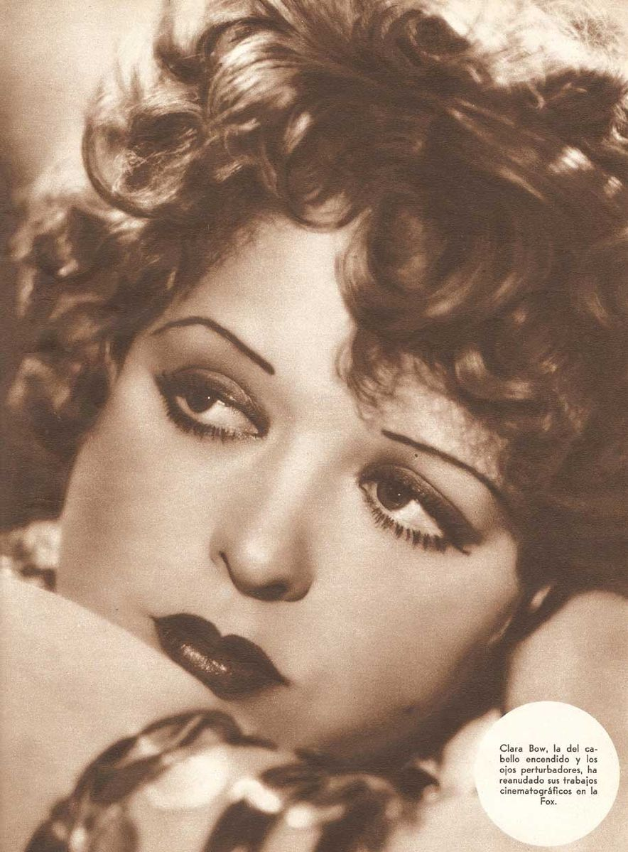 Clara Bow in Argentina Magazine, image via Wikimedia Commons