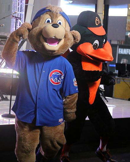 Clark (left) with the Oriole Bird Clark-the-Cub-01.jpg