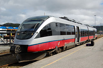 Norwegian State Railways - NSB Class 93 local train