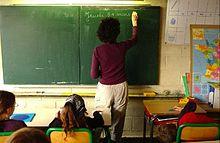 Classe della scuola primaria francese.