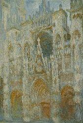 Claude Monet: Rouen Cathedral, Portal, Morning Sun