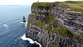 Cliffs of Moher with O'Brien's Tower - 2011.jpg