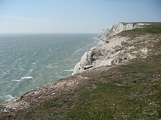 Tennyson Down - Image: Cliffs of the Down