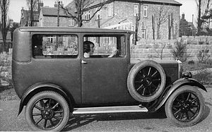 Clyno - The fabric body of a Clyno motor car, 1920
