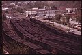 Coal Yard with Loaded Rail Cars Ready to Be Shipped to Customers Out of Danville, West Virginia, near Charleston 04-1974 (3906418435).jpg
