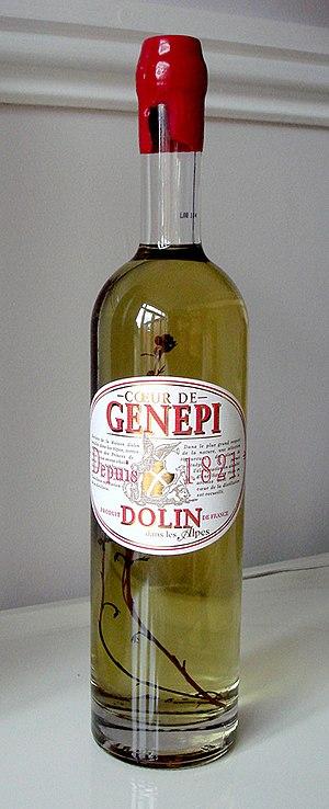 Génépi - A bottle of Coeur de Genepi