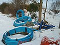 Coiled water pipe near Thurning - geograph.org.uk - 1154957.jpg