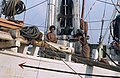 Collectie NMvWereldculturen, TM-20020647, Dia, 'Aan boord van een Buginese prauw in de haven Sunda Kelapa', fotograaf Henk van Rinsum, 1980.jpg