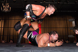 Colt Cabana - Cabana applying the Billy Goat's Curse to Michael Elgin