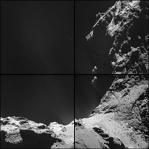 Comet 67P on 18 October 2014 NavCam montage.jpg