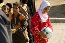 Community Policing in Shay'k Sa'ad, with soccer balls DVIDS135684.jpg
