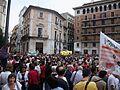 Concentració pel valencià, 9 de juny, plaça de la Mare de Déu de València.JPG