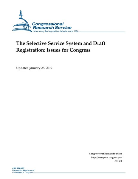 File:Congressional Research Service Report R44452 - The Selective Service System and Draft Registration - Issues for Congress.pdf