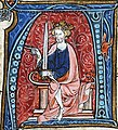 Conrad I the Younger, King of East Francia, from Spieghel Historiael of Jacob van Maerlant, c. 1330 (33526342263).jpg