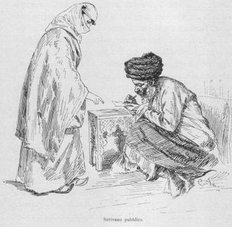 Scrivener - Telling a problem to a public scrivener. Istanbul, 1878.