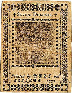 Continental Currency $7 banknote reverse (February 26, 1777).jpg