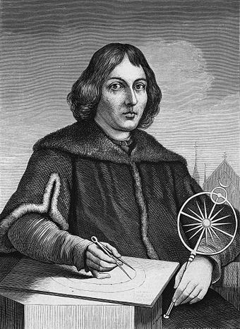 Nicolaus Copernicus, the clergyman astronomer who put the Sun at the center of the Solar System, upsetting both scientific and religious accepted theory. Copernicus.jpg