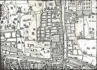 Copperplate map of London - The Moorfields plate