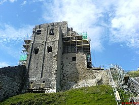 Corfe Castle construction.JPG