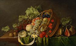 Cornelis de Heem: Still Life with a Basket of Fruit
