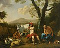 Cornelis van Poelenburch (cirkel) - Mercury wiegt Argus een met zijn muziek.jpg