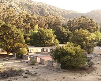 Corriganville Movie Ranch - Foundations from old movie sets at Corriganville Regional Park