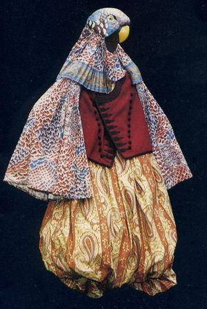 Jacques Schmidt - Costume by Jacques Schmidt for Les Oiseaux by Aristophanes, 1985