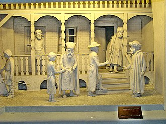 Council of Four Lands - An exhibit at the Diaspora Museum, Tel Aviv, depicting the meeting of the leaders of the Council of Four Lands