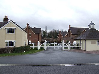 Cound - The new gated housing estate next to Cound Hall Gatehouse