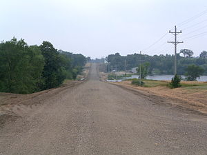 Becker County, Minnesota - A country road in Becker County in summer