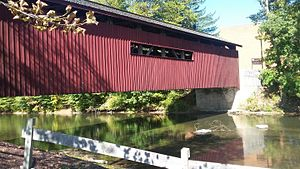 Yellow Breeches Creek - Covered bridge over the Creek at Messiah College