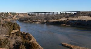 Cowboy Trail - Bridge across Niobrara River southeast of Valentine