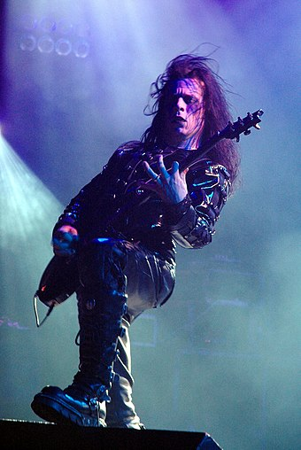 Paul Allender left the band late in 1994, but rejoined in 2000 for Midian Cradle of Filth 2005 - Paul Allender.jpg