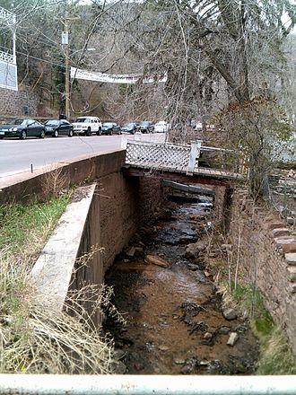 Ruxton Creek - Ruxton Creek along Ruxton Avenue, Manitou Springs