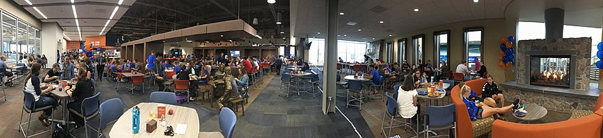 A panorama of the Crow's Nest Campus Restaurant