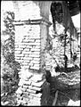 Crumbling brick pillars of the corridor at Mission San Antonio de Padua, California, ca.1906 (CHS-4378).jpg