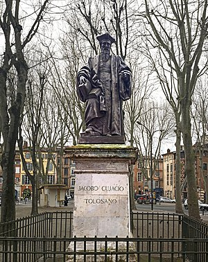 Jacques Cujas - Statue of Jacques Cujas by Achille Valois in Toulouse
